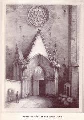 Ruines de l'église des Cordeliers - English: 19th century drawings of Toulouse
