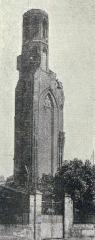 Ruines de l'église des Cordeliers - Français:   La Tour des Cordeliers, en 1934.