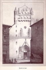 Eglise Notre-Dame-du-Taur - English: 19th century drawings of Toulouse