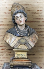 Eglise Saint-Sernin - English:  Basilica of St. Sernin, Toulouse, Haute-Garonne, France -   Bust of Saint Louis de Toulouse