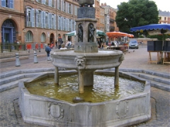 Fontaine - English: Fountain, St Etienne's place, Toulouse (France). 16th-18th century (detail)