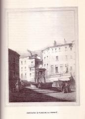 Fontaine de la Trinité - English: 19th century drawings of Toulouse