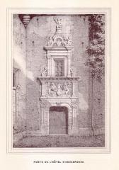 Ancien hôtel du Capitoul Pierre-Dahus, dit Hôtel Roquette ou Tour Tournoer - English: 19th century drawings of Toulouse