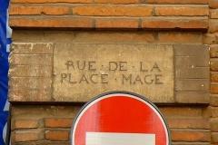 Hôtel Courtois de Viçoze dit aussi hôtel d'Espie - Français:   Plaque XVIIIe de la rue Mage, à l\'angle de l\'hôtel d\'Espie (Toulouse)