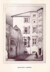 Hôtel de Lasbordes ou du Vieux-Raisin - English: 19th century drawings of Toulouse
