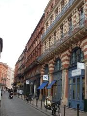 Maison en terre cuite de Virebent - Deutsch: In der Nähe des Place Esquirol die Rue des Marchands in Toulouse.
