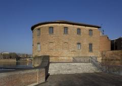 Anciens remparts Saint-Cyprien - English: Hospital Saint-Joseph de la Grave from Jardin Raymond VI in Toulouse