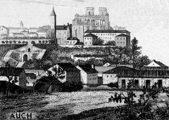 Tour du Sénéchal ou d'Armagnac -  Auch en 1883