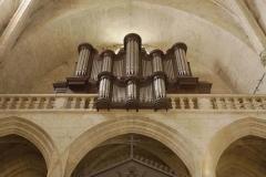 Eglise Saint-Gervais -  Lectoure (Gers, France), cathédrale Saint Gervais - Saint Protais, orgue d'Auguste Phébade de 1843, modifié à deux reprises par Jules Magen en 1858 & 1893, restauré en 1987 par Pierre Vialle.
