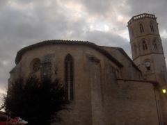 Eglise - Français:   Monfort: chevet de l\'église Saint-Clément