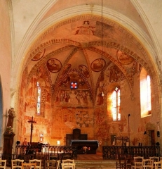 Eglise - Français:   Ensemble peintures murales fin XVème siècle