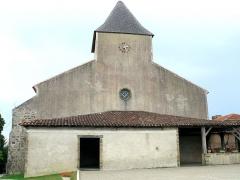 Eglise Saint-Mamet - Français:   Peyrusse-Grande - Eglise Saint-Mamet - Façade et porche