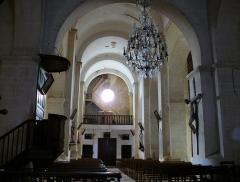 Eglise Saint-Mamet - Français:   Peyrusse-Grande - Eglise Saint-Mamet - Nef centrale vers le portail