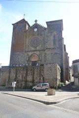 Eglise Saint-Pierre - façade de  l'église de Riscle