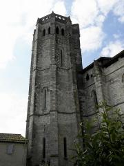 Eglise et cloîtres - Ensemble collégial de La Romieu (32). Tour de la sacristie.
