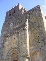 Eglise Saint-Pierre et ancienne église abbatiale -  Façade de l'église de Tasque (Gers, France)