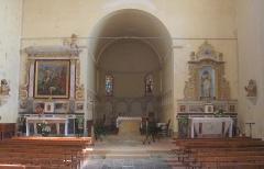 Eglise Saint-Pierre et ancienne église abbatiale -  Intérieur de l'église de Tasque (Gers, France)