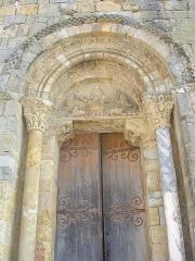 Eglise Saint-Pierre et ancienne église abbatiale -  Portail de l'église de Tasque (Gers, France)