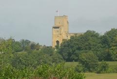 Ensemble des vestiges du château d'Armagnac -  Château de Termes d'Armagnac (Gers, France)