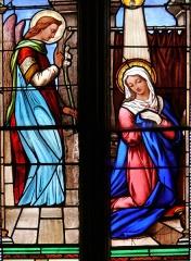 Eglise Saint-Pierre - Assier - Église Saint-Pierre - Vitrail du XIXe siècle: Annonciation
