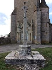 Croix en pierre du 15e siècle - Français:   Croix de Beauregard, face 2