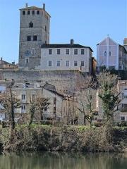Ancien palais de Via connu sous l'appellation Château du Roi, actuelle prison d'Etat - Français:   Cahors - Palais de Via, ancienne maison d\'arrêt - Façade est