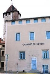 Maison - Français:   Cahors - Immeuble 478-489 quai de Regourd et tour du collège Pélegri, rue du Four-Sainte-Catherine