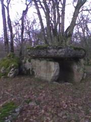 Deux dolmens sur le domaine de Gabaudet - English: Side view of Dolmen of Gabaudet n°2 in Issendolus (Lot - France)