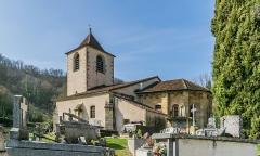 Eglise - English: Saint Martin Church of Lunan, Lot, France
