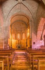 Eglise - English: Interior of the Saint Martin Church of Lunan, Lot, France