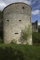 Restes du château de Roussillon -  Château de Roussillon en Saint-Pierre-Lafeuille.