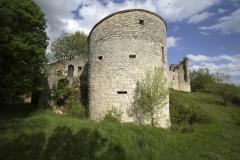 Restes du château de Roussillon -  château de Roussillon en Saint-Pierre-Lafeuille