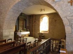 Eglise Saint-Christophe - Français:   Chapelle latérale de l\'église Saint-Christophe à Montvalent (Lot)