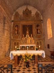 Eglise Saint-Christophe - Français:   Choeur de l\'église Saint-Christophe de Montvalent (Lot)