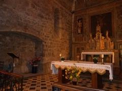 Eglise Saint-Christophe - Français:   Vue partielle du choeur de l\'église Saint-Christophe à Montvalent (Lot)