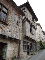 Maison du 14e siècle, dite Maison Bessac - English: Saint-Cirq-Lapopie, Lot, FRANCE