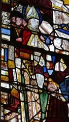 Eglise Saint-Jacques-le-Majeur - Français:   Salviac - Église Saint-Jacques-le-Majeur - Restes de vitraux anciens du Martyre de saint Eutrope.
