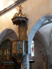 Eglise Notre-Dame - Français:   La chaire de l\'église Notre-Dame, Arreau, Hautes-Pyrénées, France.