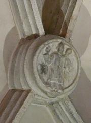 Eglise Notre-Dame - Français:   Clé de voûte dans l\'église Notre-Dame, Arreau, Hautes-Pyrénées, France.