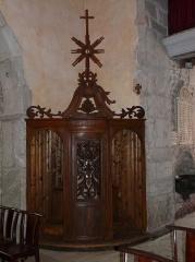 Eglise Notre-Dame - Français:   Confessionnal dans l\'église Notre-Dame, Arreau, Hautes-Pyrénées, France.