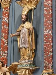 Eglise Notre-Dame - Français:   Statue de saint Exupère, retable du maître-autel, église Notre-Dame, Arreau, Hautes-Pyrénées, France.