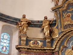 Eglise Notre-Dame - Français:   Les évangélistes: saint Matthieu et l\'ange, saint Marc et le lion; retable du maître-autel, église Notre-Dame, Arreau, Hautes-Pyrénées, France.