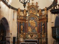 Eglise Notre-Dame - Français:   Le retable du maître-autel, église Notre-Dame, Arreau, Hautes-Pyrénées, France.