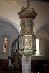 Eglise Notre-Dame - Français:   Chaire à prêcher, en bois peint et doré (18° siècle)