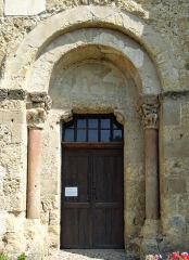 Eglise de Mazères - Français:   Castelnau-Rivière-Basse - Mazères - Église Saint-Jean-Baptiste - Portail sud