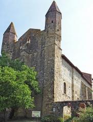Eglise de Mazères - Français:   Castelnau-Rivière-Basse - Mazères - Église Saint-Jean-Baptiste - Façades ouest et sud