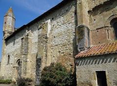 Eglise de Mazères - Français:   Castelnau-Rivière-Basse - Mazères - Église Saint-Jean-Baptiste - Façade sud