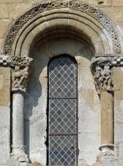 Eglise de Mazères - Français:   Castelnau-Rivière-Basse - Mazères - Église Saint-Jean-Baptiste - Fenêtre du chevet