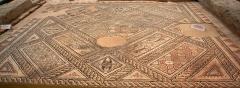 Domaine de Saint-Girons -  Mosaïque du Dieu Océan du domaine de Saint-Girons, Espace-Muséographique de Maubourguet, Maubourguet, Hautes-Pyrénées, France