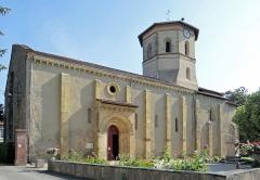 Eglise de l'Assomption - Français:   Maubourguet - Église de l\'Assomption - Ensemble de la façade sud